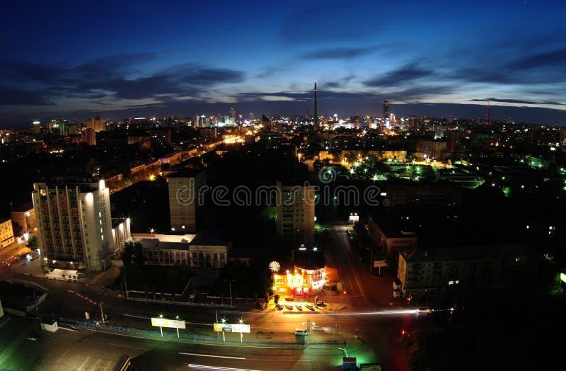 夜在叶卡捷琳堡 免版税库存图片