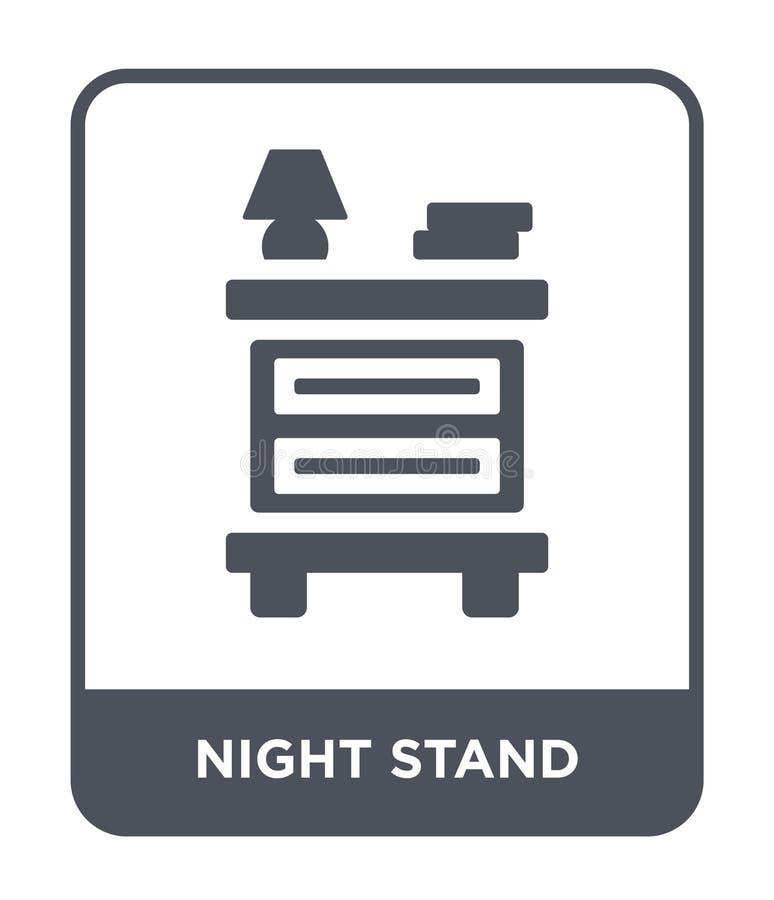 夜在时髦设计样式的立场象 夜在白色背景隔绝的立场象 夜立场现代传染媒介的象简单和 皇族释放例证