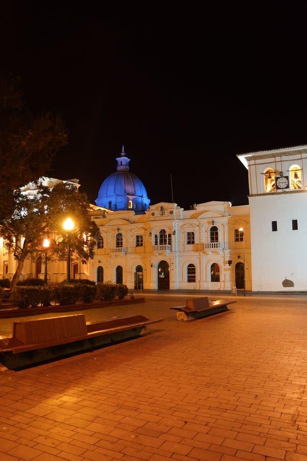 夜在波帕扬哥伦比亚 库存图片