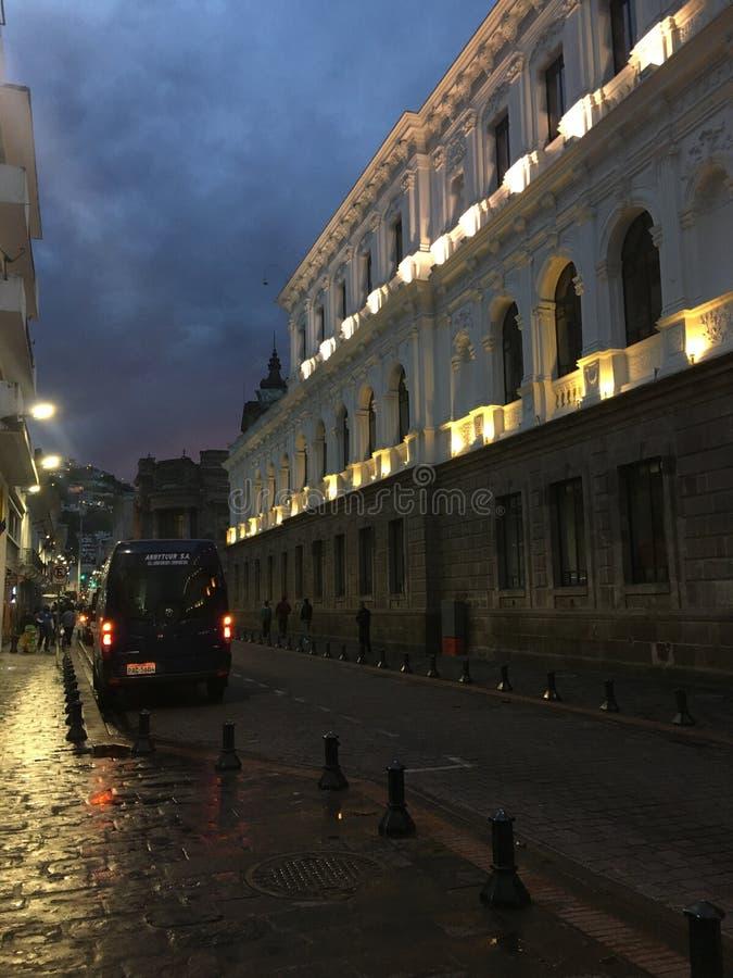 夜在耶路撒冷旧城 库存照片