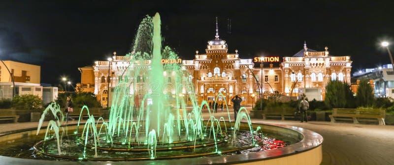 夜场面在喀山,俄联盟 免版税库存图片