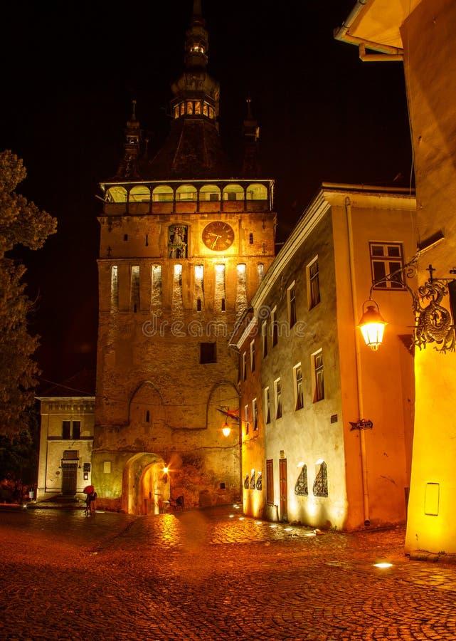 夜场面在特兰西瓦尼亚,罗马尼亚 免版税图库摄影
