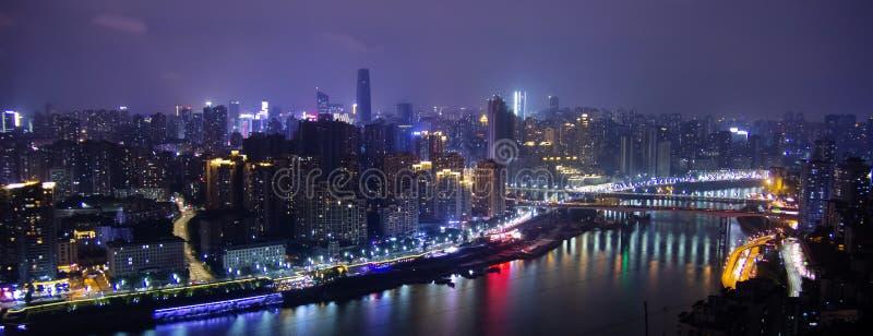夜场面在重庆,中国 免版税库存图片