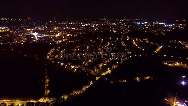 夜城市好的摄影  免版税库存照片