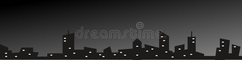 夜城市 免版税库存照片