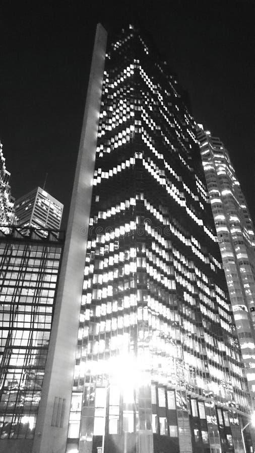 夜大厦 免版税库存图片