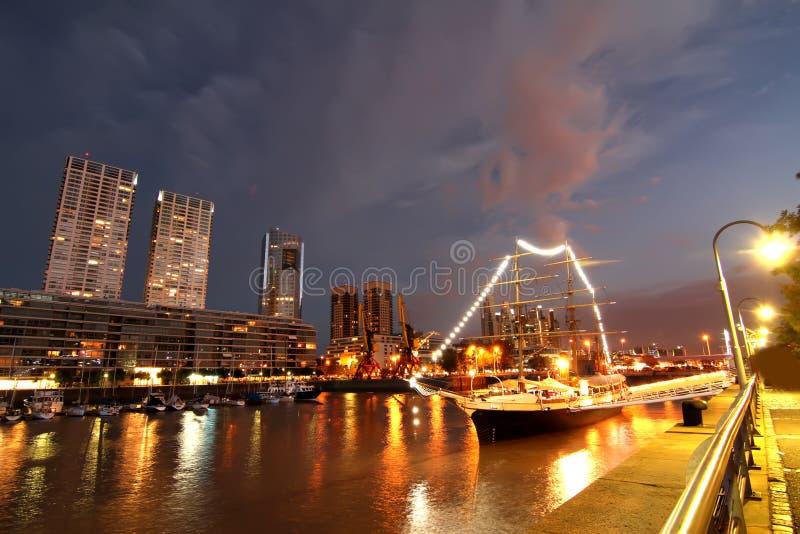 Puerto Madero在布宜诺斯艾利斯 库存照片