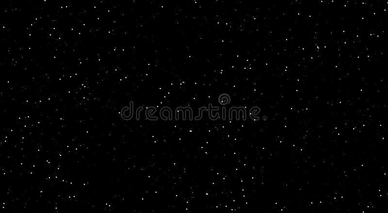 夜景,发光的星在夜,与明亮的星的黑背景 令人敬畏的夜 向量例证