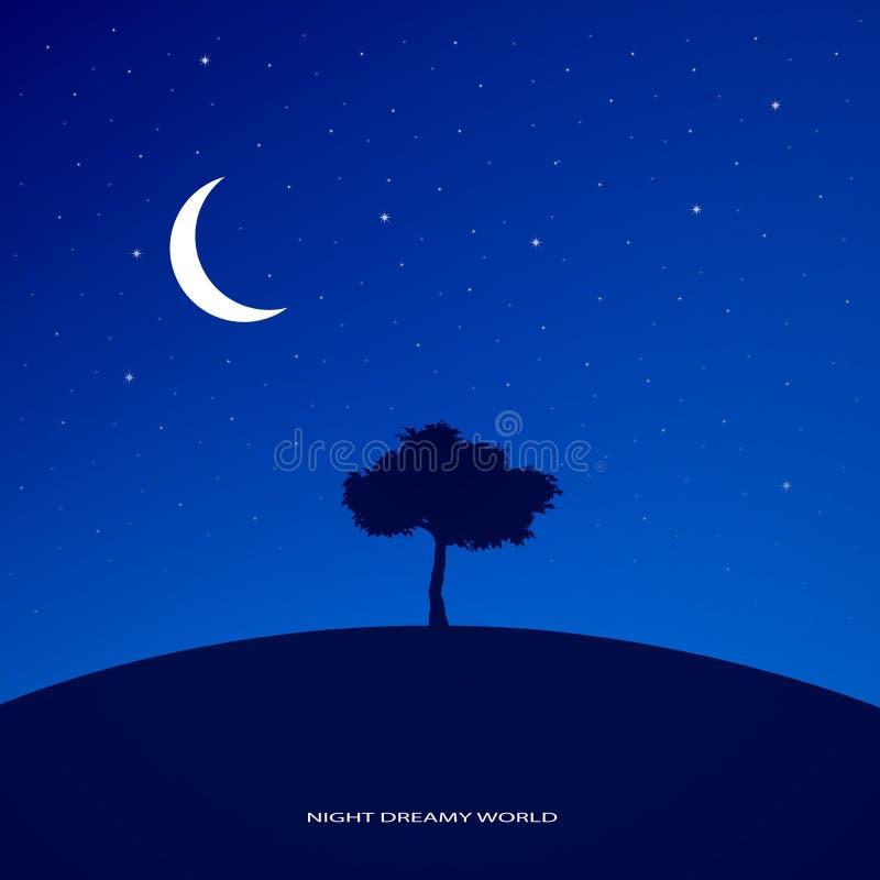 夜梦想的世界 库存例证