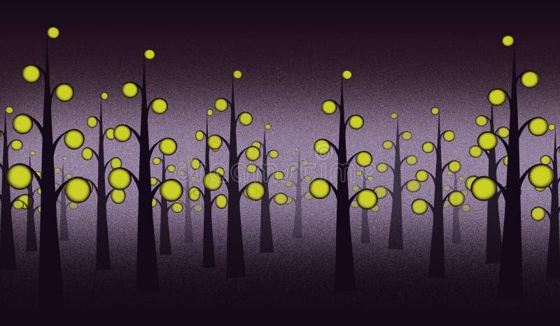 夜森林背景 库存图片