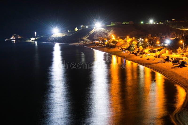 夜海滩 免版税库存图片