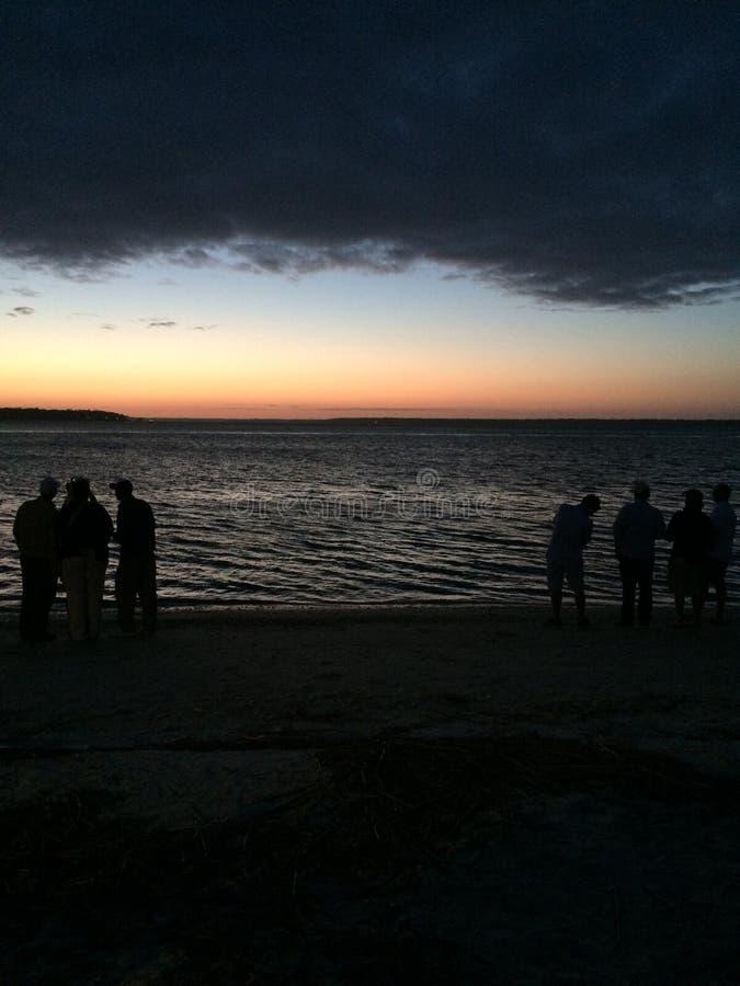 夜海滩 库存照片