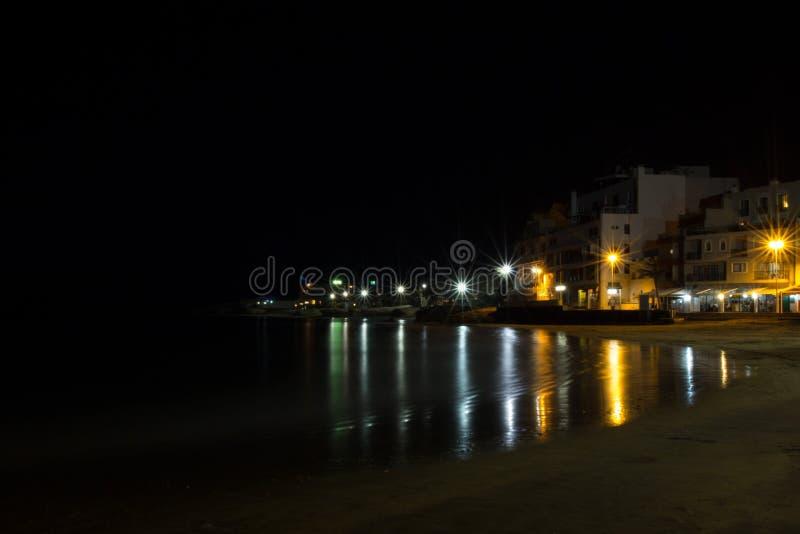 夜海滩 免版税图库摄影