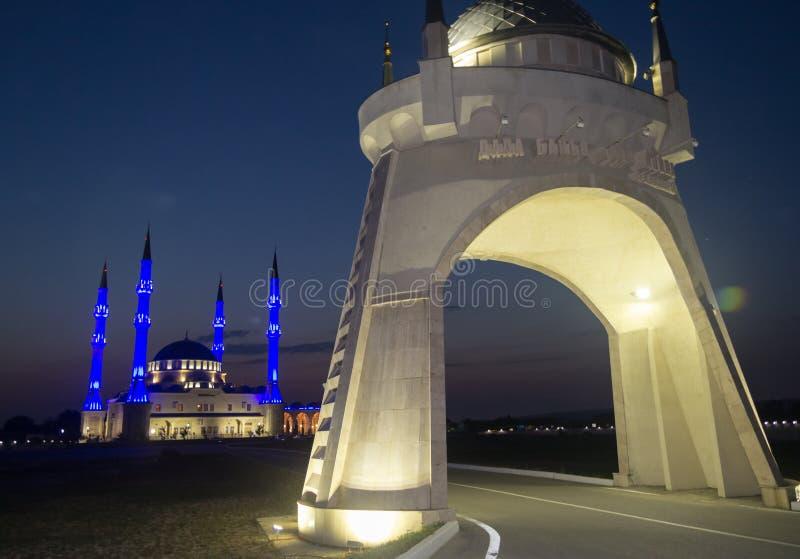 夜清真寺 免版税图库摄影