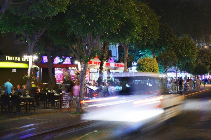 夜生活在阿拉尼亚 免版税库存照片