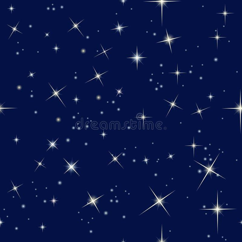 夜空和星 库存例证