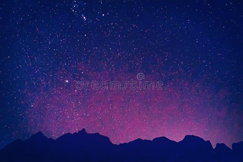 夜空宇宙充满星油漆作用 免版税图库摄影