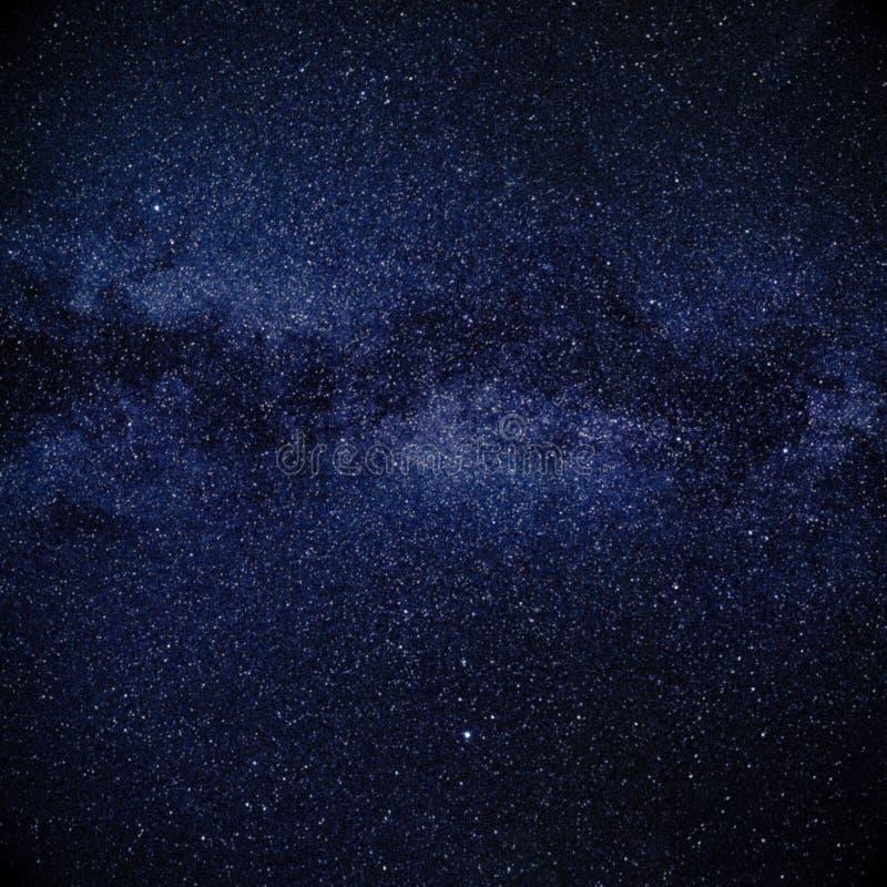 夜空担任主角发光 免版税库存图片