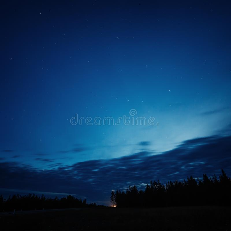夜空星形 库存照片