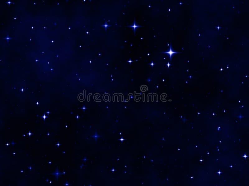 夜空星形 向量例证
