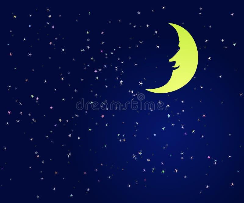 夜空的美好的例证 免版税库存图片