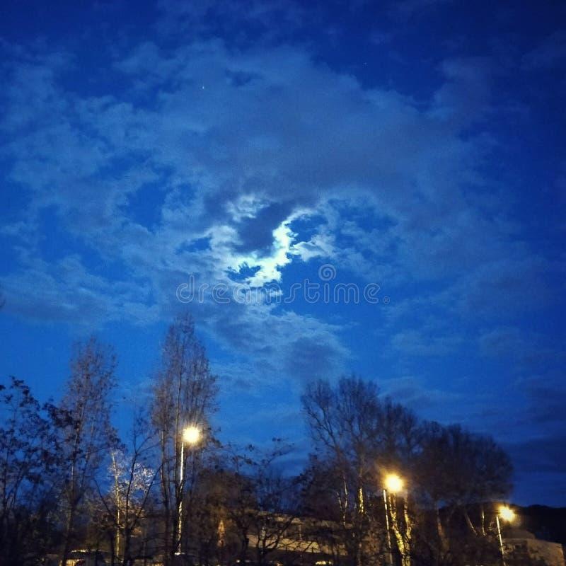 夜空秀丽🌌 免版税库存照片