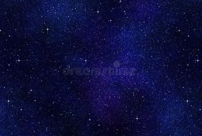 夜空空间星形 皇族释放例证