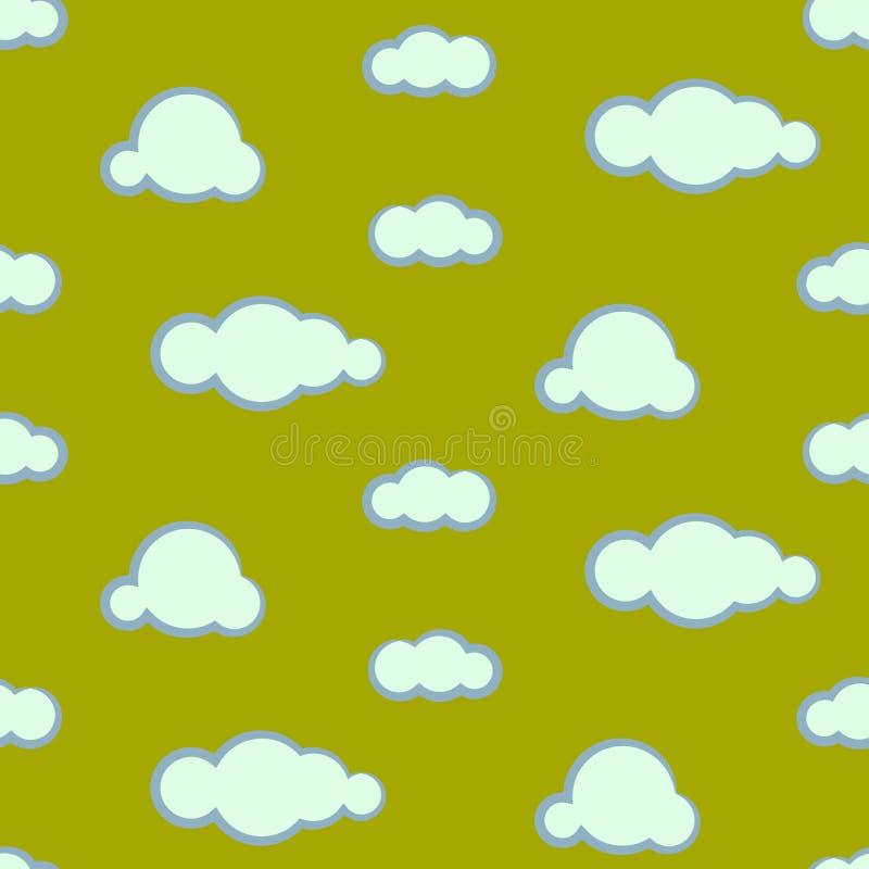 夜空覆盖无缝的传染媒介样式 库存例证