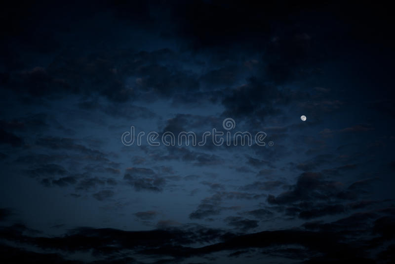 夜空,万圣夜背景 免版税库存照片
