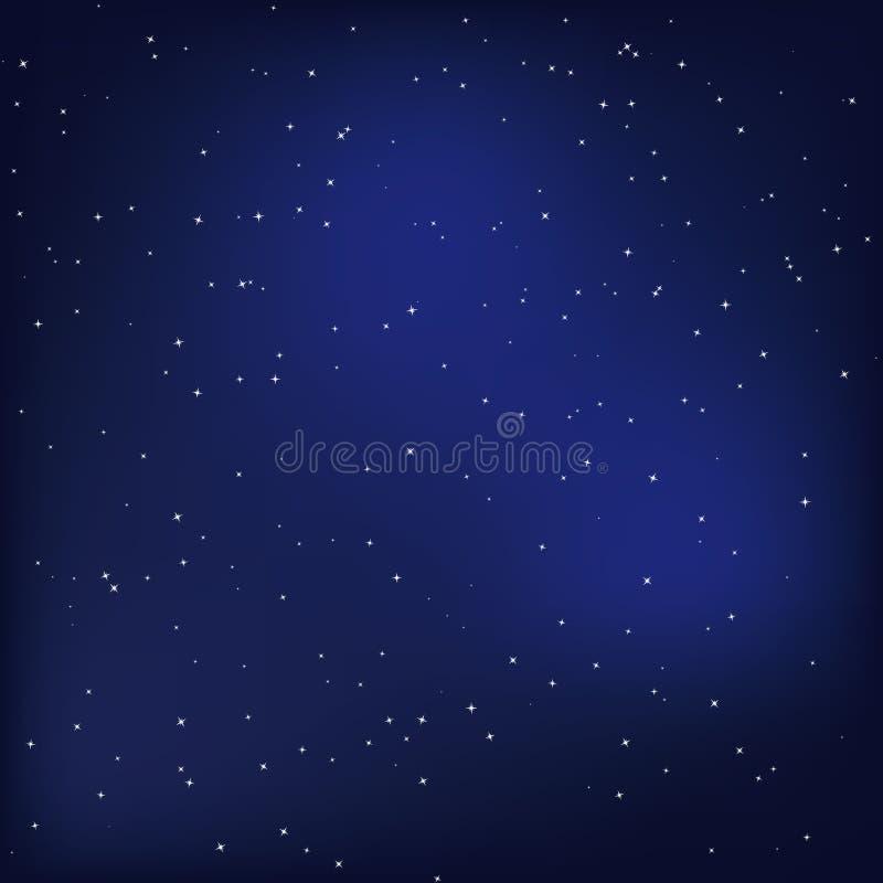 夜空 向量例证