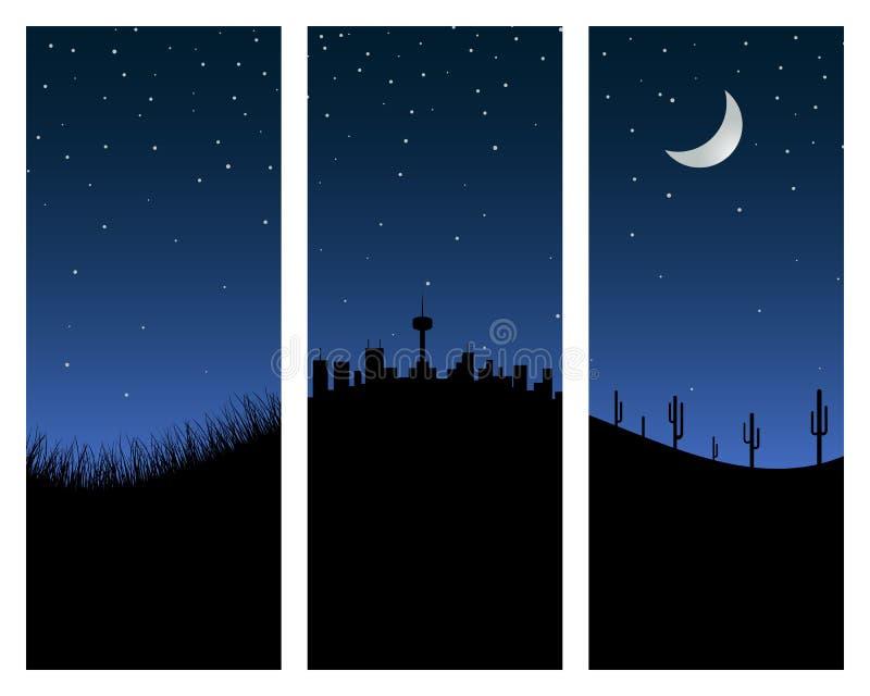 夜空 库存例证