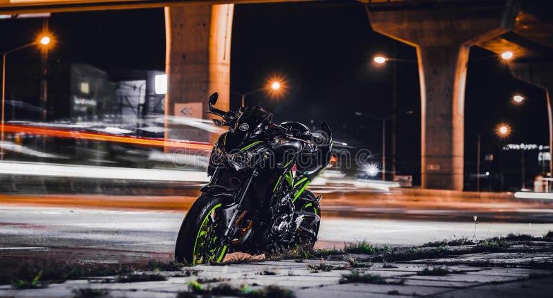 夜街道摄影 库存图片