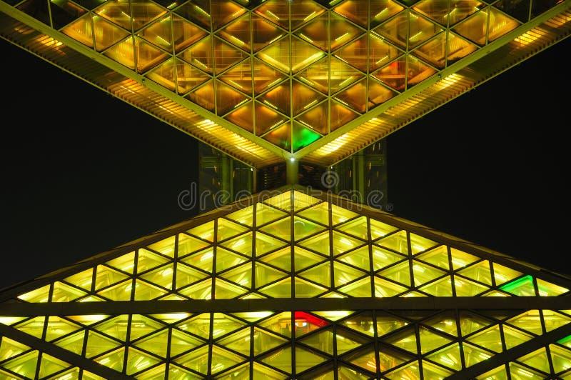 夜视图北京奥林匹克公园 免版税库存照片