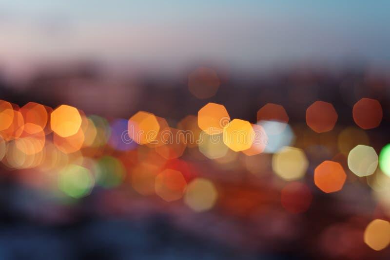 夜都市光 免版税库存照片