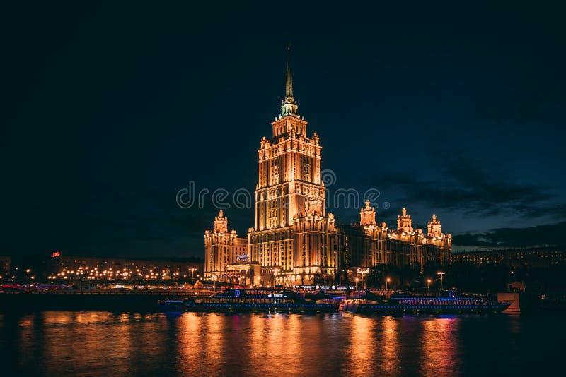 夜都市风景,霍尔 库存图片