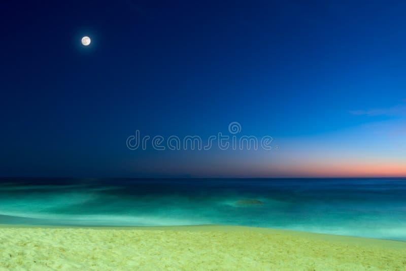夜间海景 库存照片