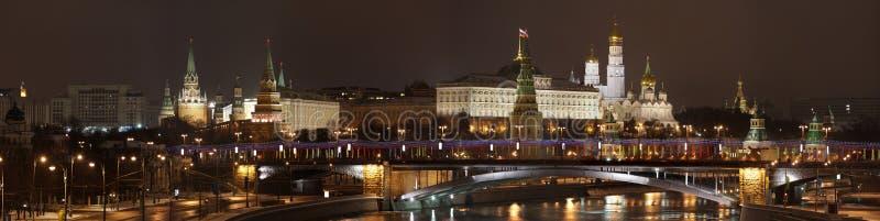 夜间莫斯科 图库摄影