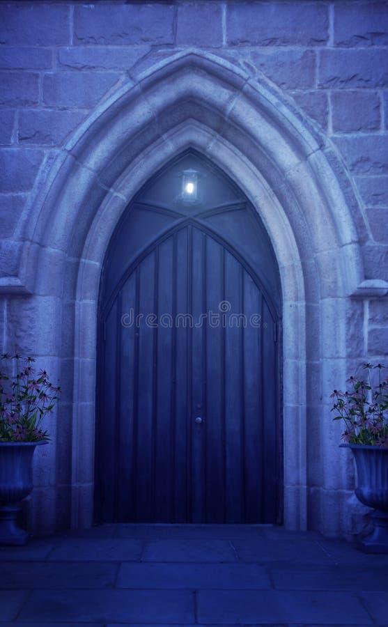 夜间门拱道 向量例证