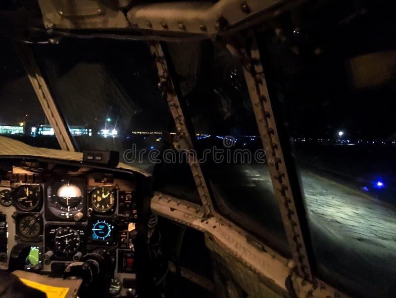 夜间飞行到Antartica 库存图片