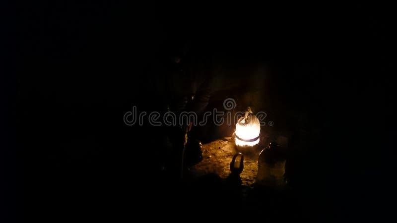 夜阵营 免版税图库摄影
