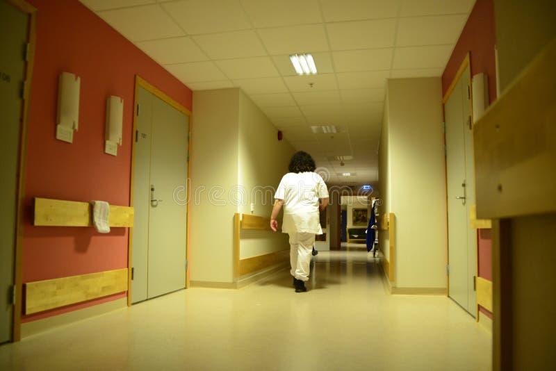 夜间护士 免版税库存图片