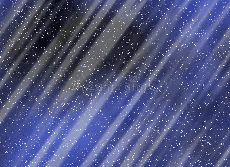 夜间的降雪背景 库存图片