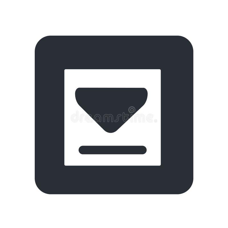 大下载箭头象在白色背景隔绝的传染媒介标志和标志,大下载箭头商标概念 向量例证