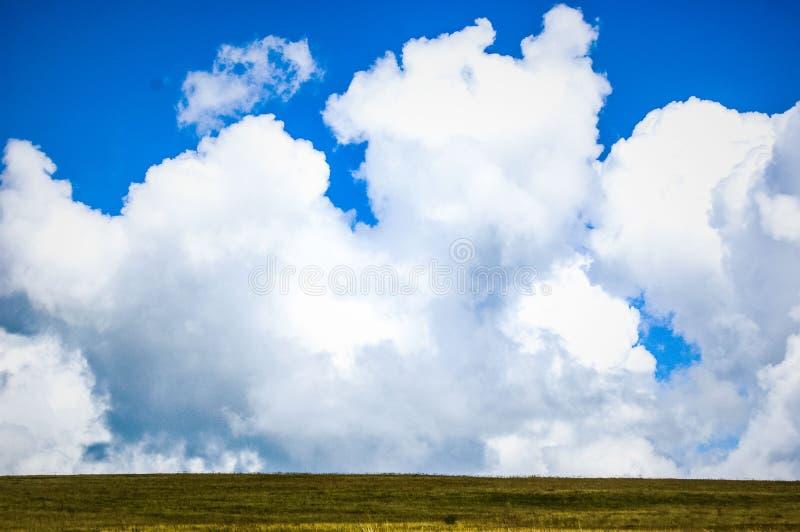 大云彩和领域 免版税库存图片