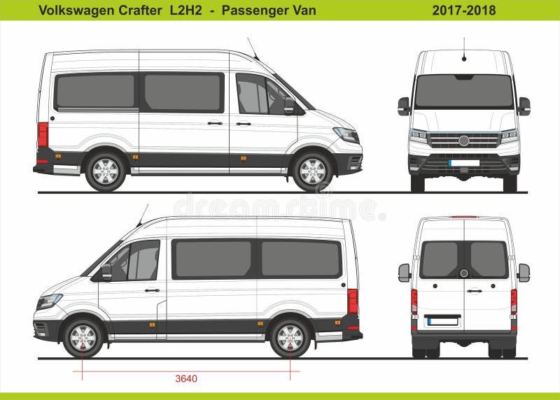 大众会工艺的人小客车L2H2 2017-2018 皇族释放例证