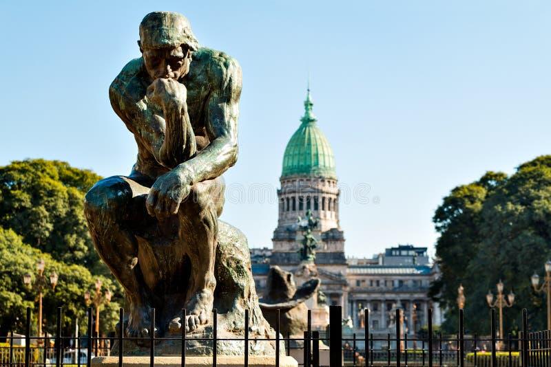 大会报de la Nacion阿根廷,在布宜诺斯艾利斯阿根廷 图库摄影