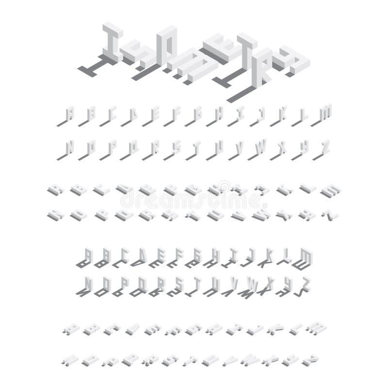 大传染媒介等量捆绑英国信件 字体的汇集在各种各样节略与下落阴影 皇族释放例证