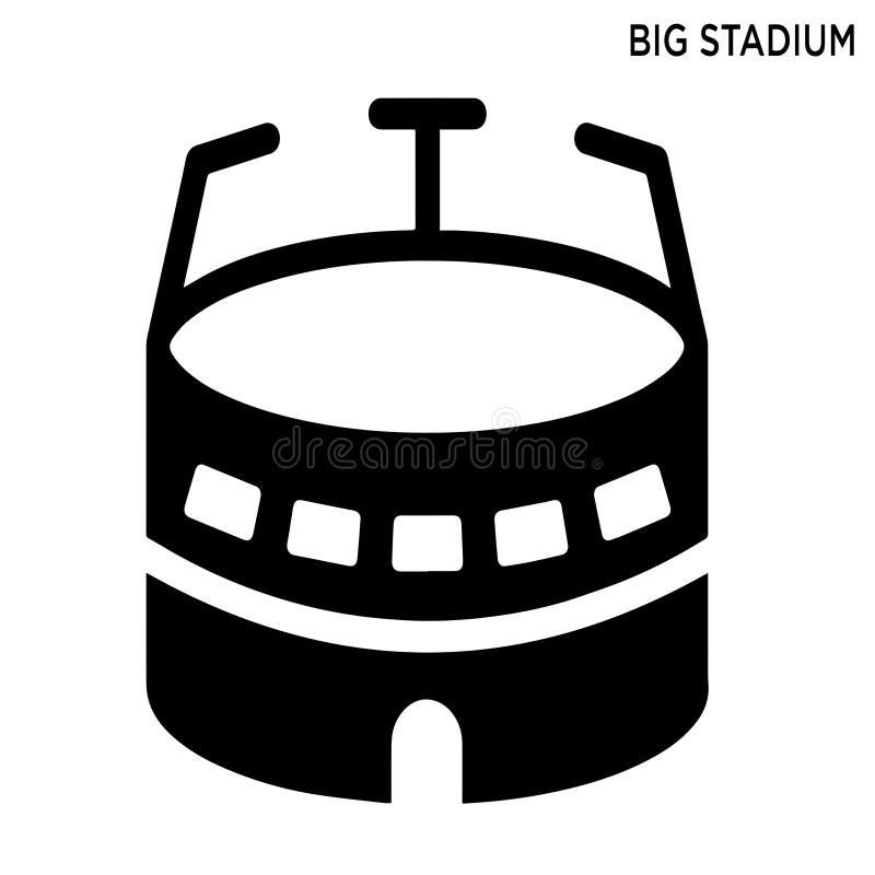 大体育场编辑可能的象大厦概念 皇族释放例证
