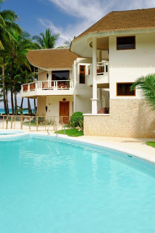 大使在博拉凯海岛天堂旅馆里  库存图片