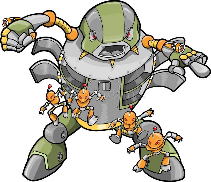 大例证机器人向量 皇族释放例证